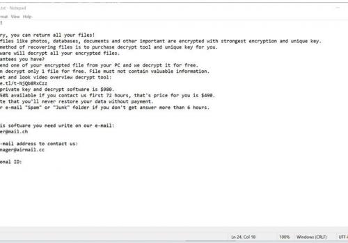 NYPG ransomware Odstranění