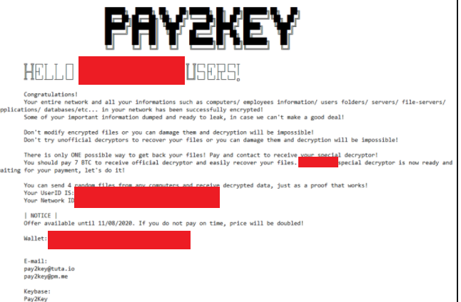 Pay2Key file ransomware