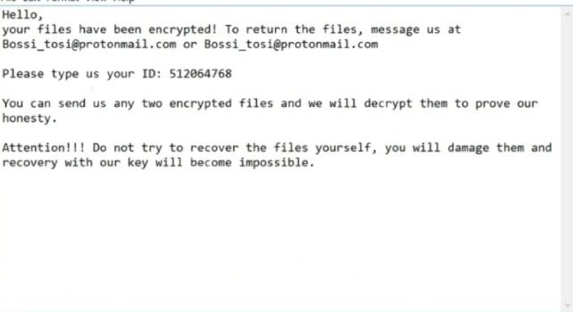 Rimuovere .google file ransomware