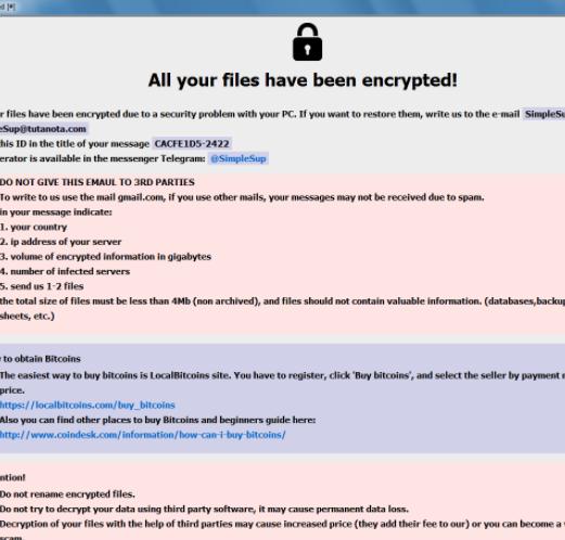 Banhu ransomware