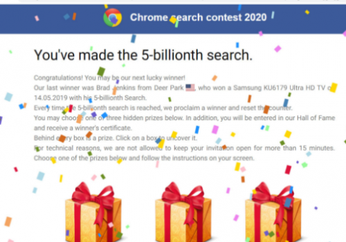 5 Billionth Search scam – 2021Umzug