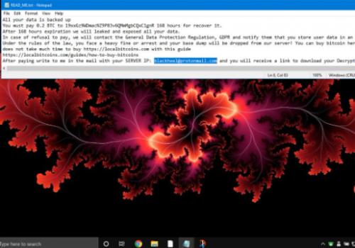 Poistaa Blackheel ransomware