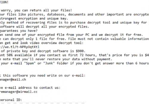 .Coos file Ransomware Rimozione