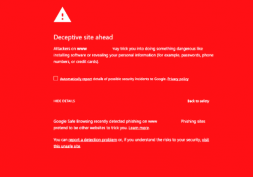 Deceptive Site Ahead Warning 2021Removal