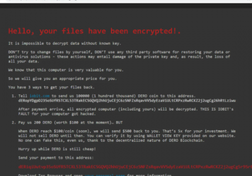 Fjerne DeroHE ransomware