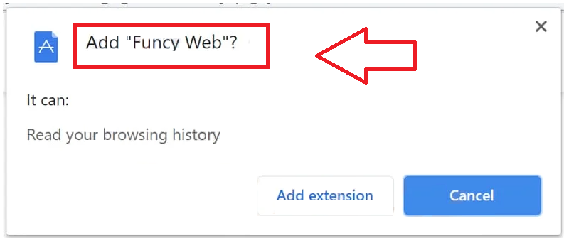 Funcy Web browser hijacker