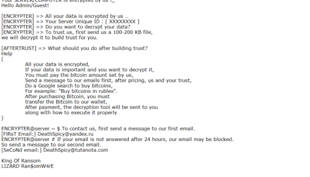 LIZARD ransomware