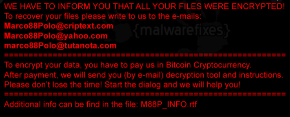 Fjerne M88P ransomware