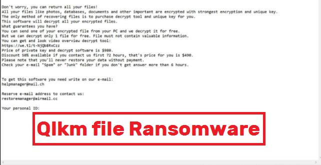 Qlkm file Ransomware