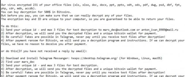 MARS ransomware