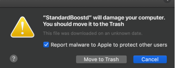 Remove *Will Damage Your Computer. You Should Move It To The Trash. POP-UP (Mac)