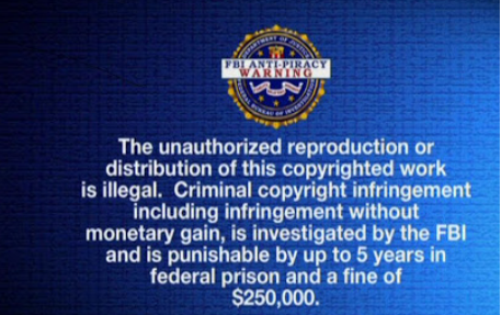 FBI Anti-Piracy تحذير