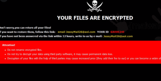Rimuovere Jessy ransomware