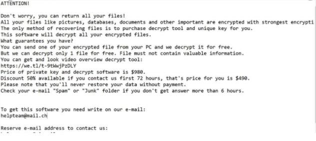 Fjerne Ribd Ransomware