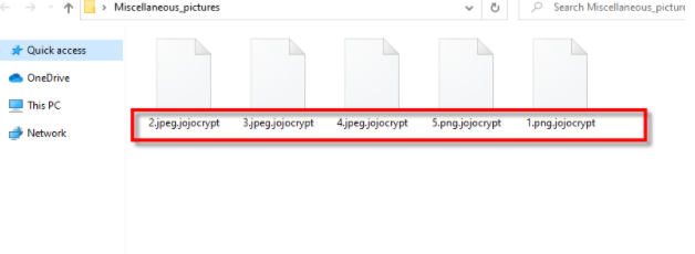 jojocrypt file virus