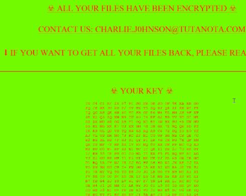 Charlie J0hnson ransomware