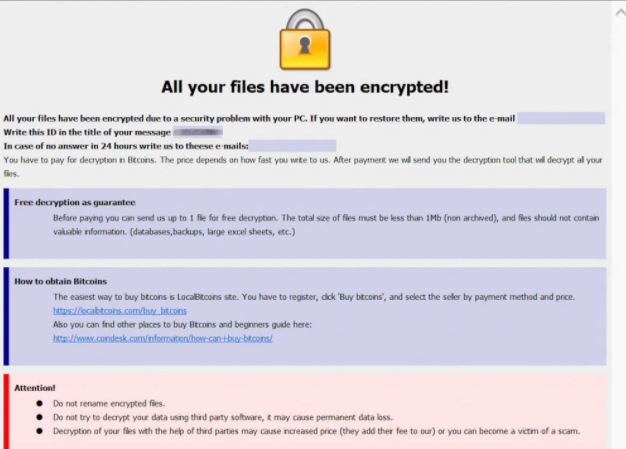 .Elbie Files Ransomware กำจัด