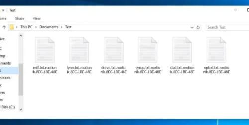 Rootiunik ransomware Removal