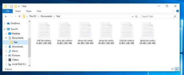 Rootiunik ransomware Fjerning