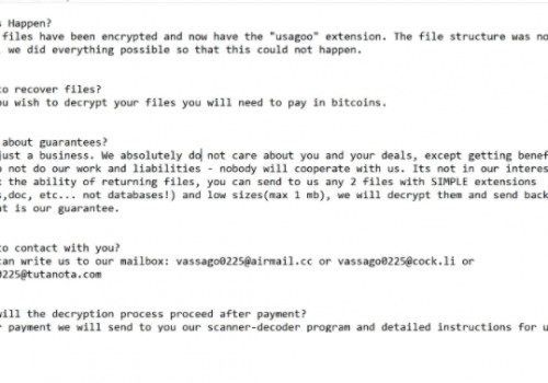 Eliminar Usagoo ransomware