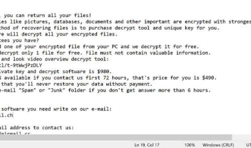 Remove Pahd virus (ransomware)