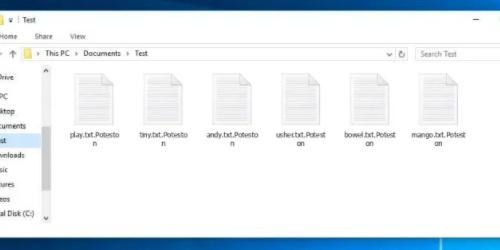 Enlever Poteston ransomware