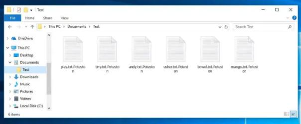 Avlägsna Poteston ransomware