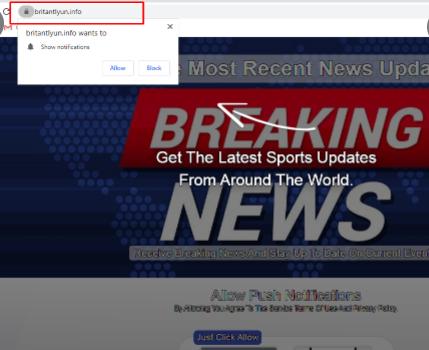 Remove Britantlyun.info pop-up ads