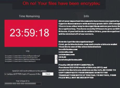 Cypress ransomware