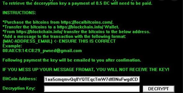 Kikiriki ransomware enlèvement