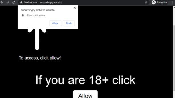 Subordingry-website ads