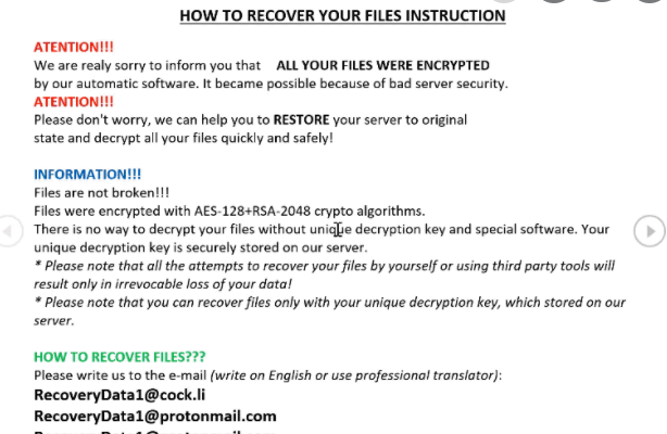 CHRB ransomware