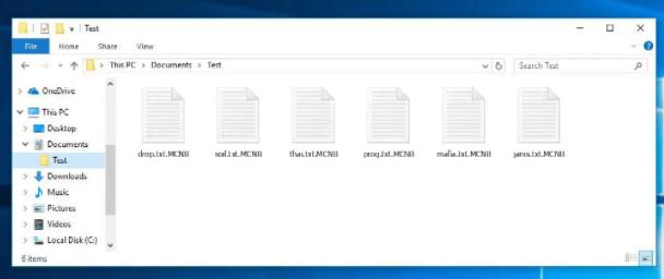 Verwijderen MCNB Ransomware