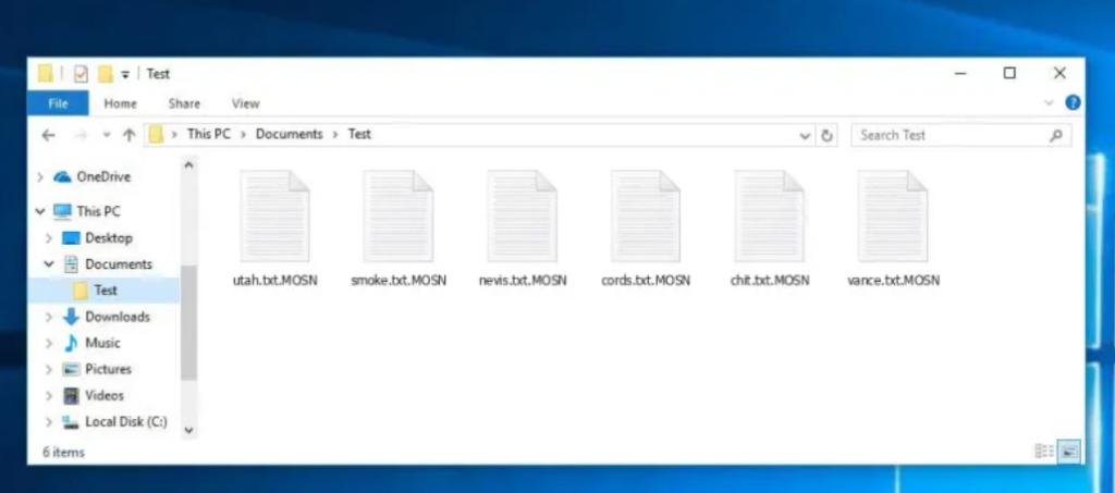 MOSN ransomware