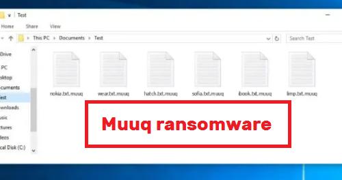 Kaldırmak Muuq ransomware