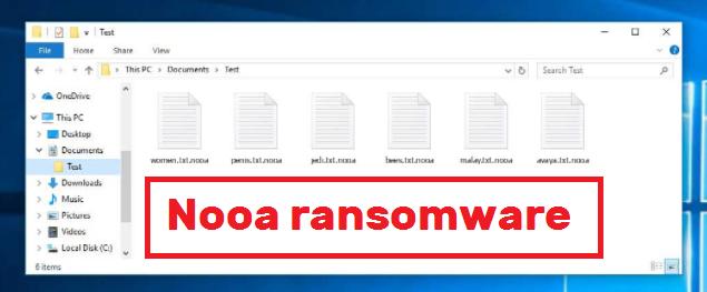 Nooa ransomware odstranění