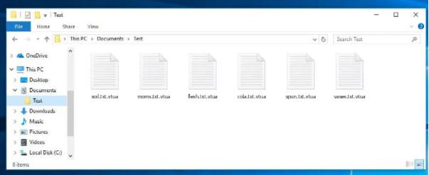 Kaldırmak Vtua file virus